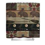 Lodge Cabin Quilt Shower Curtain