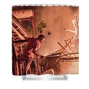 Lodge Fire Shower Curtain