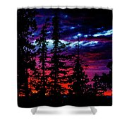 Lodge Sunset Shower Curtain