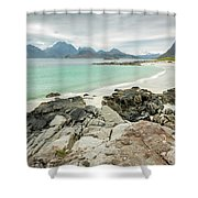 Lofoten Island Beach Scene Shower Curtain