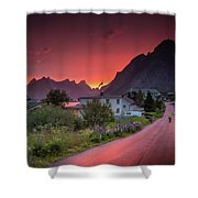 Lofoten Nightlife  Shower Curtain