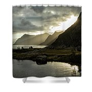 Lofoten Sunset 5 Shower Curtain