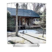 Log Cabin 2 Shower Curtain