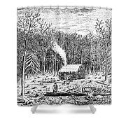 Log Cabin, C1800 Shower Curtain