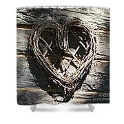 Log Cabin Love Shower Curtain