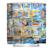 Log Cabin Quilt Shower Curtain