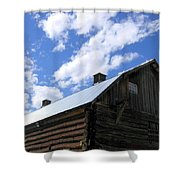 Log Clydesdale Barn Shower Curtain