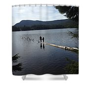 Log In A Lake Shower Curtain