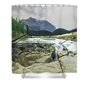 Log Jam Alley Shower Curtain