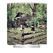 Log Structure For Storage Shower Curtain