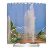 Logan Circle Fountain 2 Shower Curtain