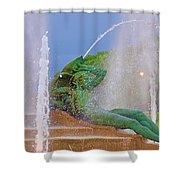 Logan Circle Fountain 3 Shower Curtain