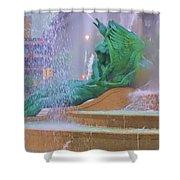Logan Circle Fountain 5 Shower Curtain