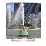 Logan Circle Fountain Shower Curtain