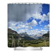 Logan Pass Panorama - Glacier National Park Shower Curtain