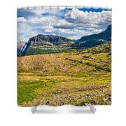 Logan Pass Panorama Shower Curtain