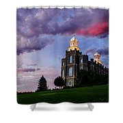 Logan Temple Heaven's Light Shower Curtain