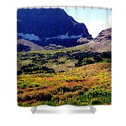 Logans Pass In Glacier National Park Shower Curtain