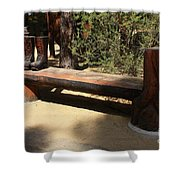 Logger Bench In Oregon Shower Curtain