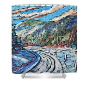 Loggers Road  Shower Curtain