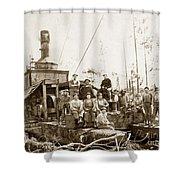 Logging, Clemons Camp No. 3 No. 1, Circa 1920 Shower Curtain