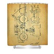 Logging Truck Patent Shower Curtain
