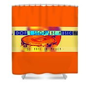 Logo Rullante Hd Shower Curtain