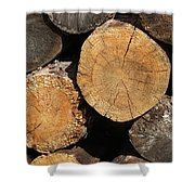 Logs Shower Curtain