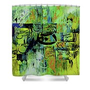 Loh E Qurani 004 Shower Curtain
