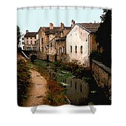 Loire Valley Village Scene Shower Curtain
