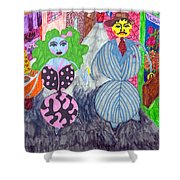 Lois And Arnold Roundabout Shower Curtain