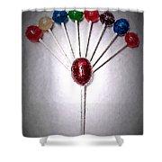 Lollipop Balloons  Shower Curtain