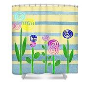 Lollipop Flower Bed Shower Curtain
