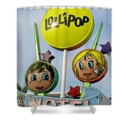 Lollipop Motel - North Wildwood New Jersey Shower Curtain
