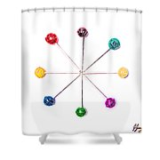 Lollipop Wheel Shower Curtain