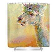 Lolly Llama Shower Curtain