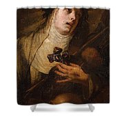Lombard School, 17th Century Saint Catherine Of Siena Shower Curtain