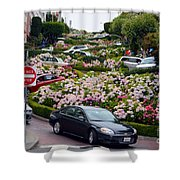 Lombard Street Shower Curtain