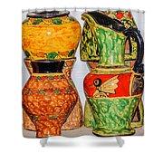 Lombok Pottery Shower Curtain