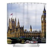London 4 Shower Curtain