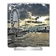 London A View From A Bridge  Shower Curtain