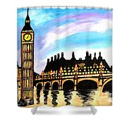London After Eight Shower Curtain