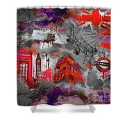 London Art 56 Shower Curtain