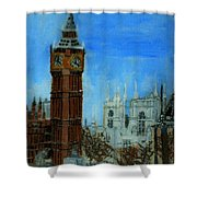 London Big Ben Clock  Shower Curtain