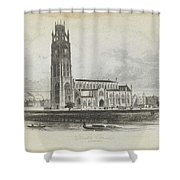 London Boston Church. Shower Curtain