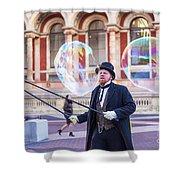 London Bubbles 4 Shower Curtain
