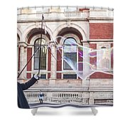 London Bubbles 9 Shower Curtain