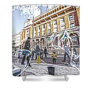London Bubbles B Shower Curtain
