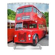 London Bus Shower Curtain
