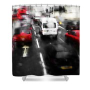 London By Bus Shower Curtain